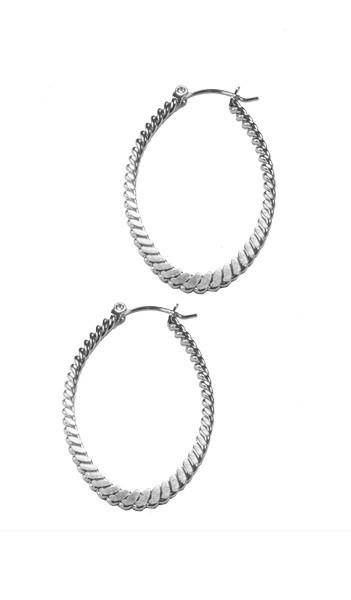 Grey Creolen GOR004 steel Edelstahl silber