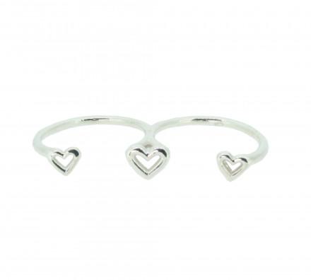SilverArt Collection Ring Herz SR002-SR Silber rhodiniert silber