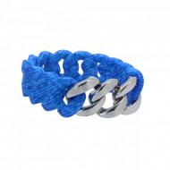 HANSE-KLUNKER ORIGINAL Damen Armband 107706 Edelstahl jeans aqua blau silber