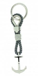 HAFEN-KLUNKER Sailor Collection Schlüsselanhänger Anker 108067 Textil Edelstahl grau silber