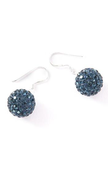 Crystal Line Ohrhänger TPOR108SW Kugel groß Silber blau