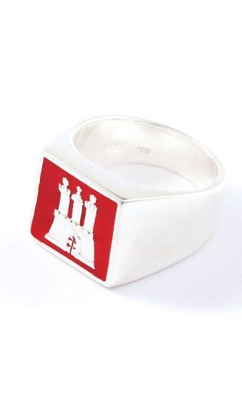 Hamburg Schmuck Ring TPR002 Silber rot