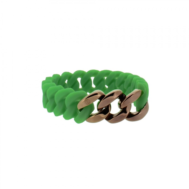 HANSE-KLUNKER MINI Damen Armband 107978 Edelstahl grün bronze