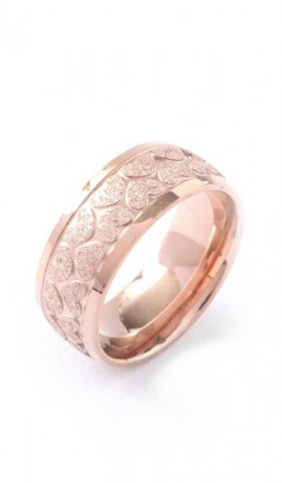 Grey Ring 100077 Herz Edelstahl rosegold