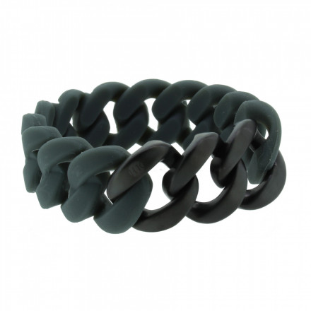 HANSE-KLUNKER ORIGINAL Damen Armband 107022 Edelstahl dunkelgrau schwarz matt