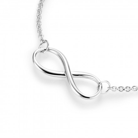 SilverArt Collection Kette Infinity 99011593450 Sterlingsilber silber