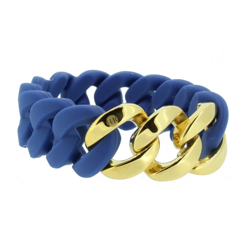 HANSE-KLUNKER ORIGINAL Damen Armband 106788 Edelstahl blau gold