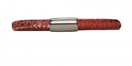 Endless JLo Armband Rot Reptil 1002-19 Leder rot