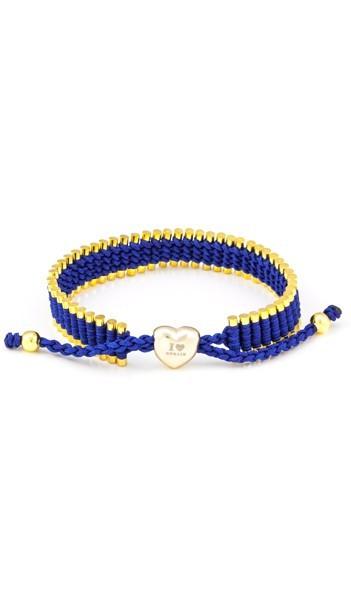 I Love Berlin Armband 106426 Herz blau gold