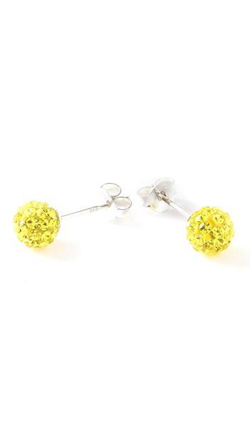 Crystal Line Ohrstecker TPOR101SW Kugel groß Silber gelb