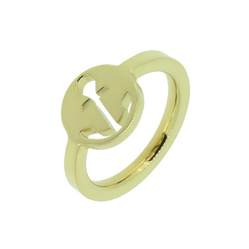 HAFEN-KLUNKER Glamour Collection Ring Anker ausgestanzt 110521 Edelstahl Gold