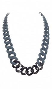 HANSE-KLUNKER Damen Kette 107092 Edelstahl dunkelgrau schwarz matt