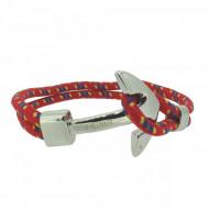 HAFEN-KLUNKER Anker Armband 108163 Edelstahl Textil rot blau silber