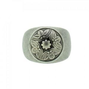THO Herren Ring Wappen 107827 THO-R003 Edelstahl silber 1a741c25fa