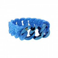 HANSE-KLUNKER ORIGINAL Damen Armband 107961 Edelstahl jeans aqua blau blau