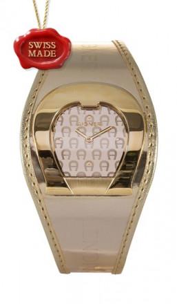Aigner Damenuhr A41213 Leder gold