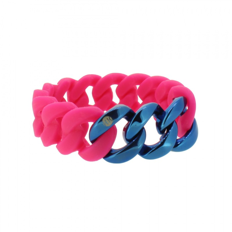 HANSE-KLUNKER ORIGINAL Damen Armband 107940 Edelstahl pink blau