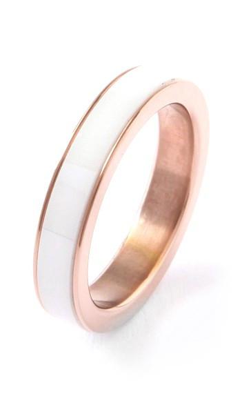 Grey Ring 100040 Edelstahl rosegold weiss