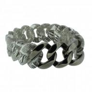 HANSE-KLUNKER ORIGINAL Damen Armband 107399 Edelstahl vintage letter gun metal