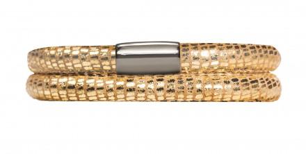 Endless JLo Armband Golden Reptil 1001-38 2 reihig Leder gold