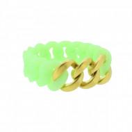 HANSE-KLUNKER ORIGINAL Damen Armband 107947 Edelstahl mintgrün gold matt