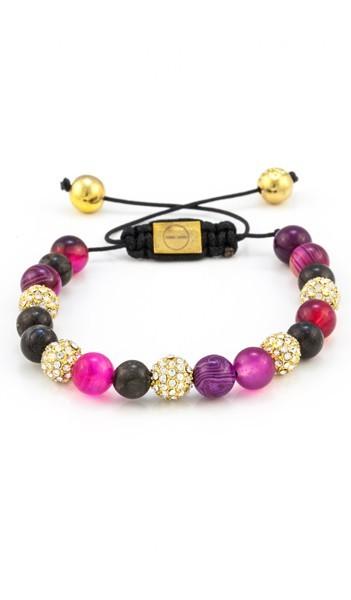 MARC SWAN Armband Shamballa Style 100126 mehrfarbig