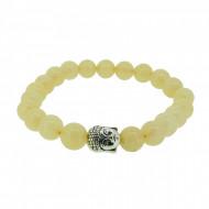Silverart Buddha Armband 108077 FAB071 Honig-Jade pastellgelb Metal nickelfrei versilbert