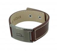 POLICE Herren Armband PJ25330BLC-02 Leder braun