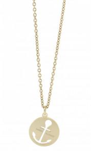 HAFEN-KLUNKER Glamour Collection Halskette Anker 108045 Edelstahl Anker ausgestanzt rund rosegold