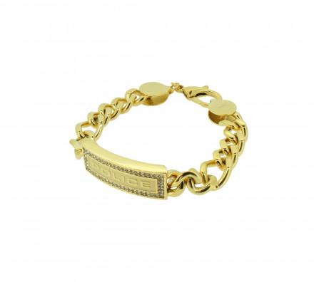 POLICE Armband PJ25144BSG-01-L Edelstahl gold