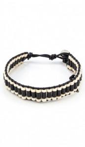 MARC SWAN Armband 106486 Leder schwarz weiss