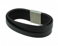 POLICE Herren Armband PJ24182BLB-01-L Leder schwarz