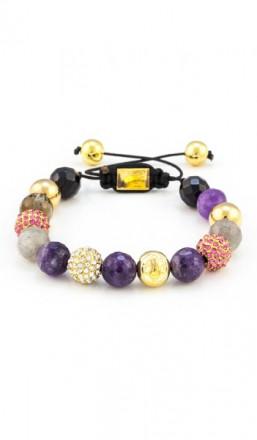MARC SWAN Armband Shamballa Style 100127 mehrfarbig