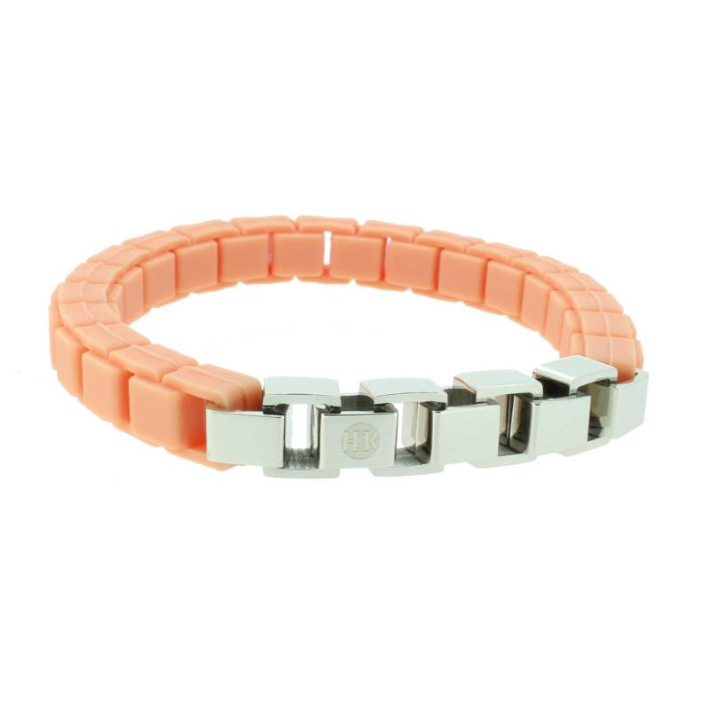 HANSE-KLUNKER FASHION Damen Armband 110470 Edelstahl peach silber