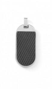 Grey Anhänger 100066 Edelstahl Emaille silber schwarz