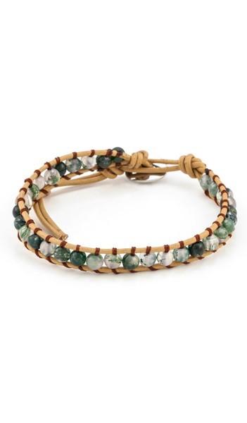 MARC SWAN Armband 100142 braun grün