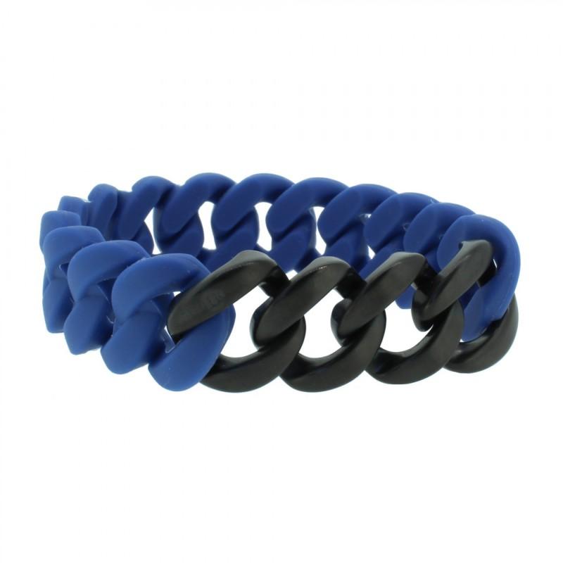 HANSE-KLUNKER ORIGINAL Herren Armband 107416 Edelstahl blau schwarz matt