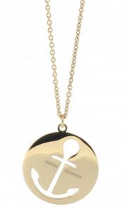 HAFEN-KLUNKER Glamour Collection Halskette Anker 108054 Edelstahl Anker ausgestanzt rund groß rosego