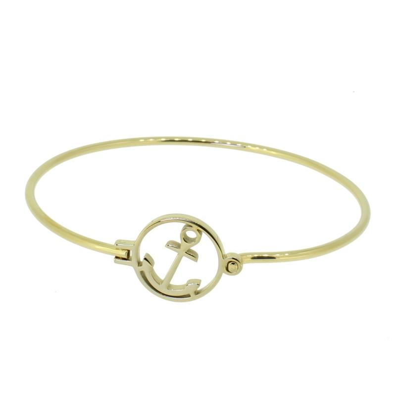HAFEN-KLUNKER Glamour Collection Armreif Anker Florenz 110515 Edelstahl Gold
