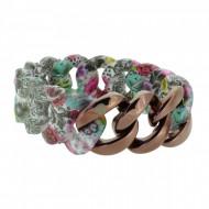 HANSE-KLUNKER ORIGINAL Damen Armband 107409 Edelstahl paisley flower bronze
