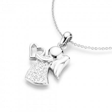 SilverArt Collection Kette Engel mit Herz 99011293450 Sterlingsilber silber