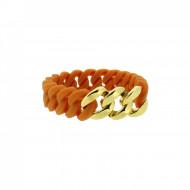 HANSE-KLUNKER MINI Damen Armband 107980 Edelstahl hellbraun gold